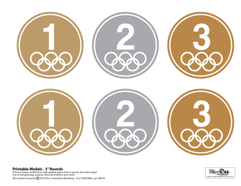 Free Printable Olympic Medals