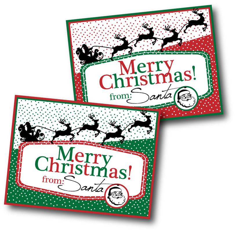 The creatividee workshop blog the creatividee workshop santa gift tags free printable negle Images