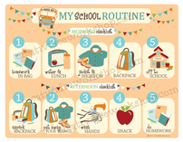 School Routine Chart - Neutral Theme