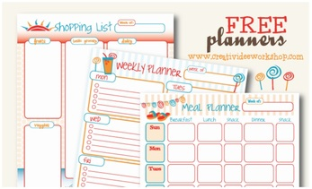 Free Printable August Planners