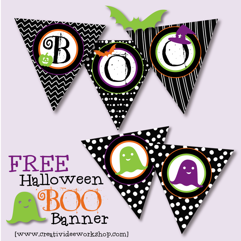 photo about Free Printable Halloween Banner named The CreativiDee Workshop Weblog - The CreativiDee Workshop